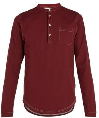 Oliver Spencer Swanfield Cotton Jersey Henley T Shirt - Mens - Red