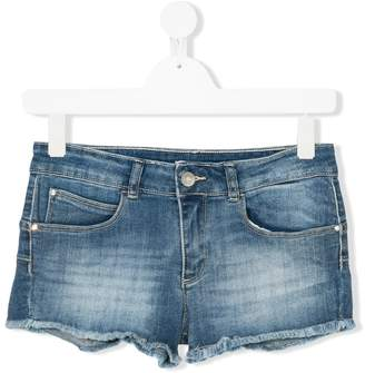 Liu Jo Kids TEEN frayed denim shorts