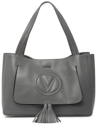 Mario Valentino Valentino By Ollie Classic Leather Tote Bag