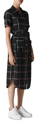 Whistles Montana Check Shirt Dress