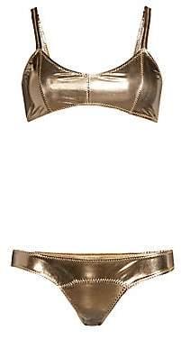 Lisa Marie Fernandez Women's Genevieve Metallic Bikini Set