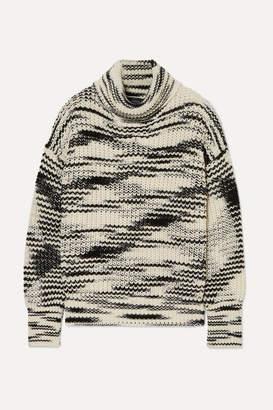 Joseph Painted Merino Wool-blend Turtleneck Sweater - Ivory