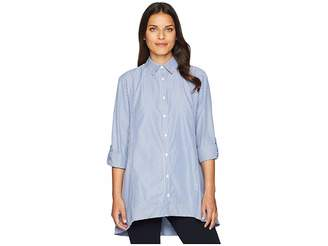 Jones New York Roll Tab High-Low Popover Women's Clothing