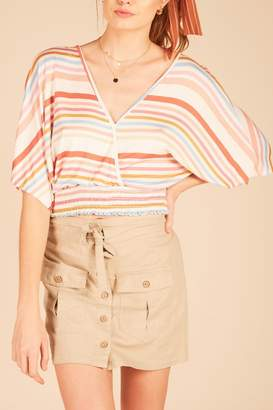 Vintage Havana Multi-Stripe Open-Back Top