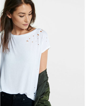Express express one eleven distressed tee $29.90 thestylecure.com