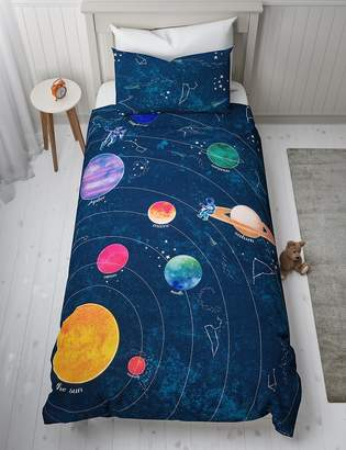 Marks and Spencer Space Glow in the Dark Reversible Bedding Set