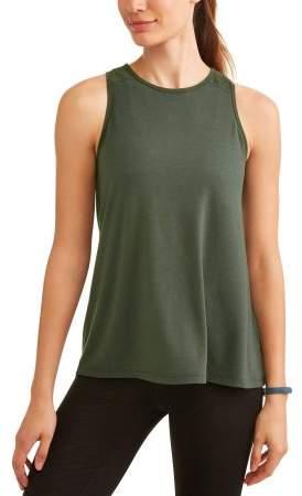 Women's Core Active Back Slit Shadow Stripe Muscle Tank