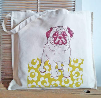 Quietly Eccentric Pug Dog Canvas Shopper
