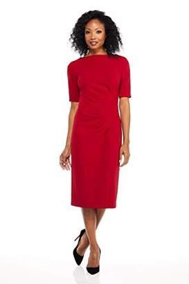Maggy London Women's Novelty Knit arc Shoulder Sheath