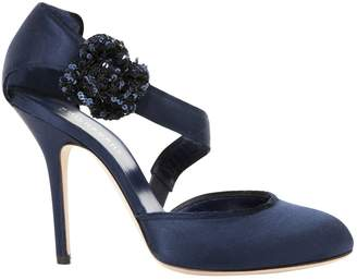 Philosophy di Alberta Ferretti Blue Cloth Heels