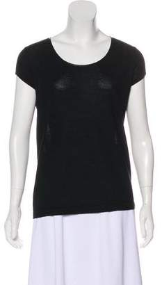 Gerard Darel Wool Short Sleeve Top