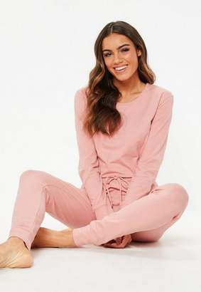 Missguided Pink Loungewear Romper