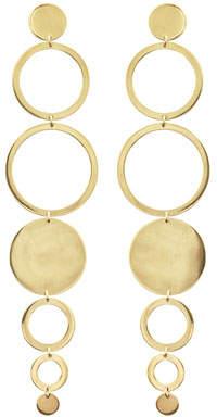 Lana Multi-Circle Linear Drop Earrings