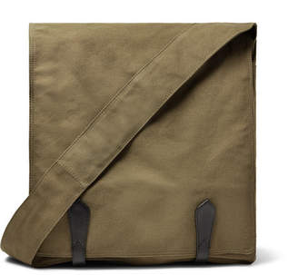 Dries Van Noten Leather-Trimmed Cotton-Canvas Messenger Bag