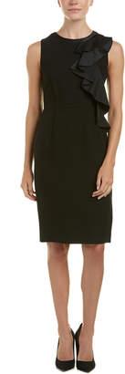 Max Mara Silk & Wool-Blend Sheath Dress