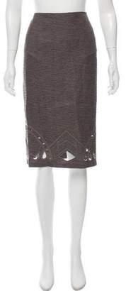 Zac Posen Embroidered Knee-Length Skirt