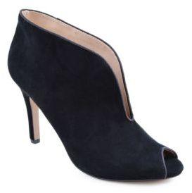 Adrienne Vittadini Grandeur Open Toe Slip-On Shooties $139 thestylecure.com