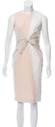 Paule Ka Bow-Accented Panel Sheath Dress w/ Tags