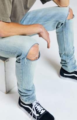Pacsun PacSun Light Ripped Stacked Skinny Jeans