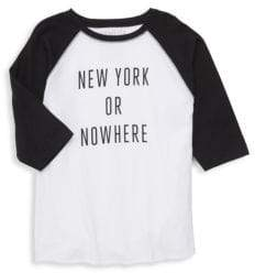 Little Girl's & Girl's NY Or Nowhere Cotton Graphic Tee