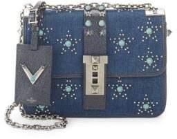 Valentino Studded Denim Crossbody Bag