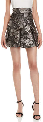 Dolce & Gabbana Floral Brocade Pleated Mini Skirt