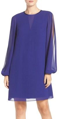 Vince Camuto Split Sleeve Chiffon Trapeze Dress $148 thestylecure.com
