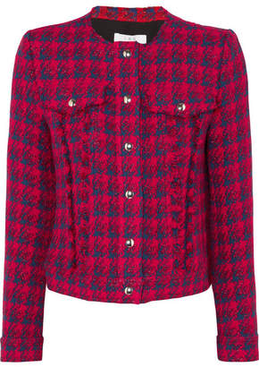 IRO Quilombe Metallic Frayed Tweed Jacket - Red
