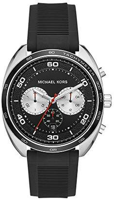 Michael Kors Men's 'Dane' Quartz Stainless Steel and Silicone Casual Watch
