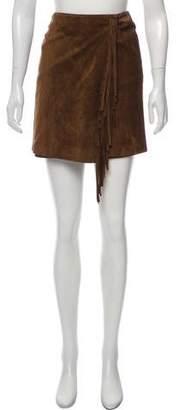 Ralph Lauren Suede Wrap Skirt w/ Tags