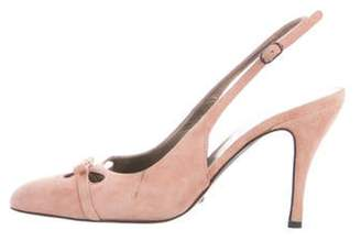 Dolce & Gabbana Suede Slingback Pumps Pink Suede Slingback Pumps