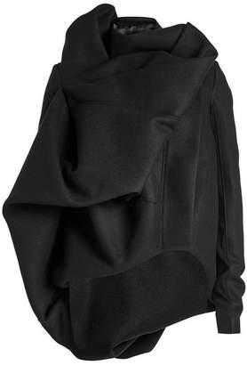 Rick Owens Wool Jacket with Draped Detail