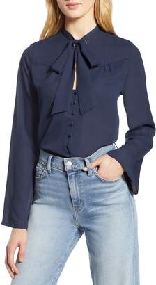Halogen Tie Neck Blouse