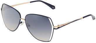 Balmain Square Metal Sunglasses