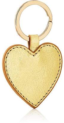 Barneys New York WOMEN'S LEATHER HEART KEY CHAIN - GOLD