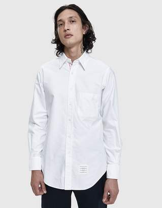 Thom Browne Oxford Button Down Shirt in White