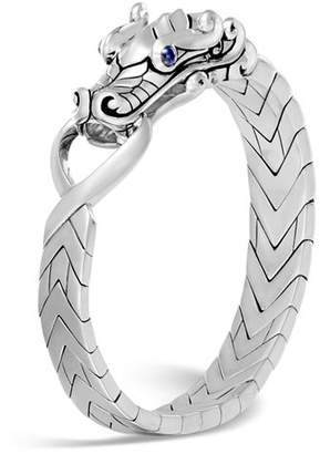 John Hardy Men's Sterling Silver Legends Naga Bracelet with Sapphire Eyes