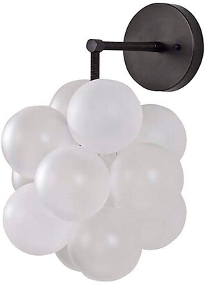 The Light Factory Bubble Sconce - Frosted/Black