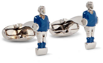 Paul Smith Foosball Silver-Tone and Enamel Cufflinks - Men - Blue