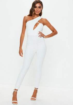 Missguided White Cut Out Romper