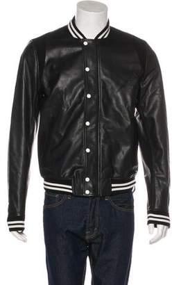 Band Of Outsiders Leather Bomber Jacket
