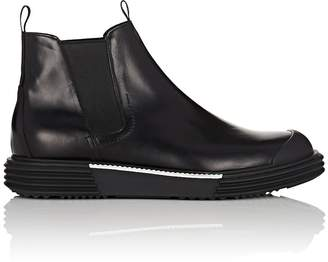 Prada Men's Wedge-Sole Leather Chelsea Boots