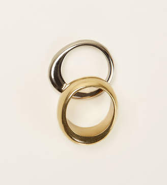 Reformation Soko Organic Mixed Metal Stacking Rings
