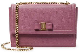 Salvatore Ferragamo Ginny Vara Leather Flap Bag - ShopStyle f6db35bff4
