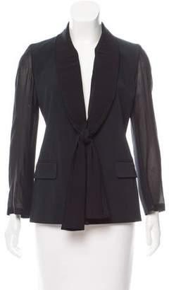 Maison Margiela Silk-Paneled Single-Breasted Blazer