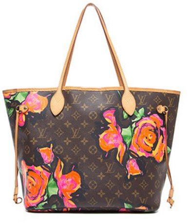 Louis Vuitton Pre-Owned Stephen Sprouse Monogram Canvas Roses Neverfull MM Tote Bag