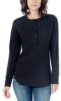 Alternative Women's Organic Pima Button Up Henley Shirt
