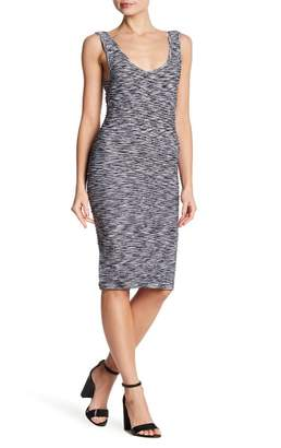 Bebe Bodycon Textured Scoop Back Dress