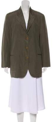 Giorgio Armani Silk & Linen-Blend Structured Blazer
