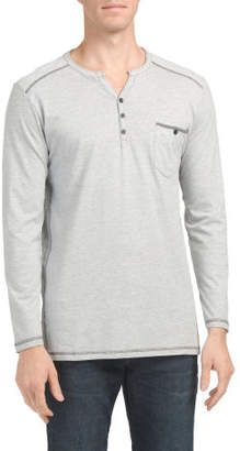 Henley With Contrast Trim